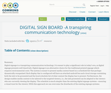 DIGITAL SIGN BOARD -A transpiring communication technology
