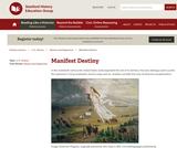 Reading Like a Historian: Manifest Destiny