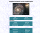 Astronomy 123: Galaxies and the Expanding Universe