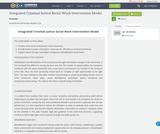 Integrated Criminal Justice Social Work Intervention Model