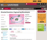 Directed Evolution: Engineering Biocatalysts, Spring 2008
