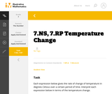 7.NS, 7.RP  Temperature Change
