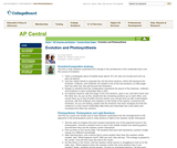 AP Central: Evolution and Photosynthesis