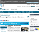 Evaluating School Classroom Discussion