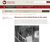Reading Like a Historian: Mexican Labor in the 1920s