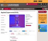 Applied Superconductivity, Fall 2005