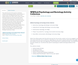 WWHoA Psychology and Sociology Activity Collection