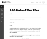 Red and Blue Tiles