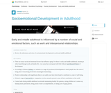 Socioemotional Development in Adulthood