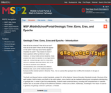 Geologic time: Eons, eras, and epochs