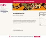Writing Rubrics and Checklists: Grade 2