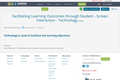 Facilitating Learning Outcomes through Student - Screen Interaction - Technology