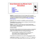 Area Estimates by Monte Carlo Simulation
