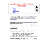 Area Estimates by Monte Carlo Simulation