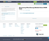 Harnessing Wind Energy (Middle School NGSS Unit)