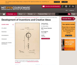Development of Inventions and Creative Ideas, Spring 2008