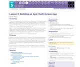 CS Principles 2019-2020 5.3: Building an App: Multi-Screen App