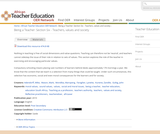 Being a Teacher: Section 6 - Teachers, values and society
