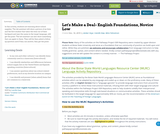 Let's Make a Deal- English Foundations, Novice Low
