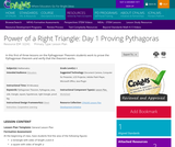 Power of a Right Triangle: Day 1 Proving Pythagoras
