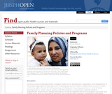 Family Planning Policies and Programs