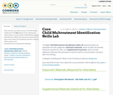 Core 2.5: Child Maltreatment Identification Skills Lab