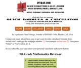 5th Grade Math Assessment Reviewer