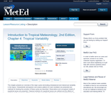 Introduction to Tropical Meteorology, 2nd Edition, Chapter 4: Tropical Variability