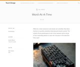 Teach Design: Word-At-A-Time