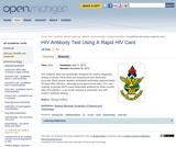 HIV Antibody Test Using A Rapid HIV Card