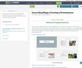 Learn Easy Steps: Creating a Presentation
