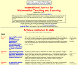 International Journal for Mathematics Teaching and Learning