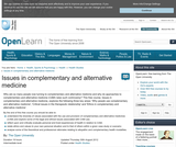 Issues in Complementary and alternative Medicine