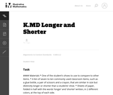 K.MD Longer and Shorter