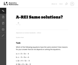 Same Solutions?