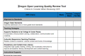 Oregon Open Learning Quality Review Tool
