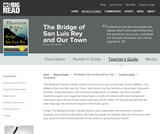 The Bridge of San Luis Rey and Our Town by Thornton Wilder - Teacher's Guide