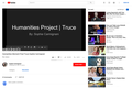 YouTube Truce Humanities Project : Sophie Carmignani