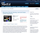 Microwave Remote Sensing: Land and Ocean Surface Applications