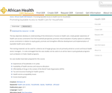 Promoting Equitable Access to Health Care for Households