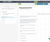 Biography Checklist