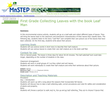 """First Grade Collecting Leaves with the Book """"Leaf Man"""""""