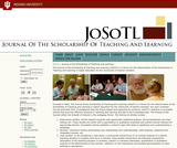 The Journal of the Scholarship of Teaching and Learning