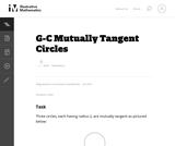 G-C Mutually Tangent Circles