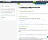 A Collection of Web Evaluation Tools