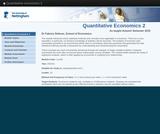 Quantitative economics 2