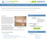 Sum It Up: An Introduction to Static Equilibrium