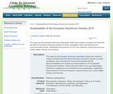 Sustainability of the European Aluminium Industry 2010