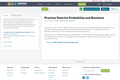 Practice Tests for Probability and Statistics