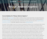 Abstract Algebra I
